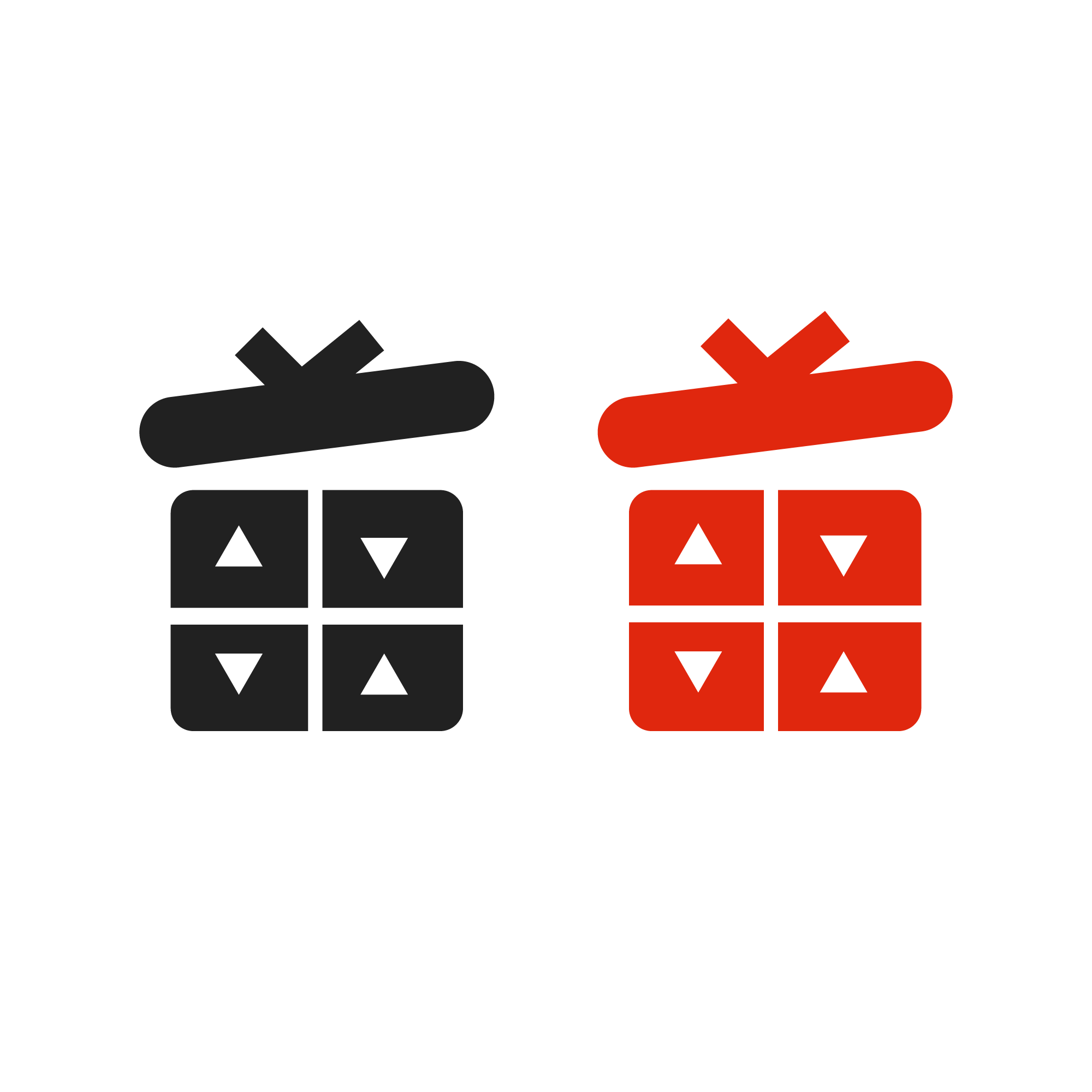 Gift boxes icon. Merry Christmas boxes vector eps