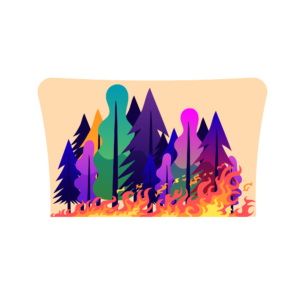 Forest fire vector and Clip art