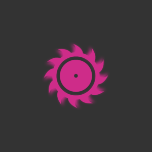 Saw icon creative on gray background